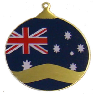 About Australia Shop: Christmas Ornament - Australian Flag Bauble