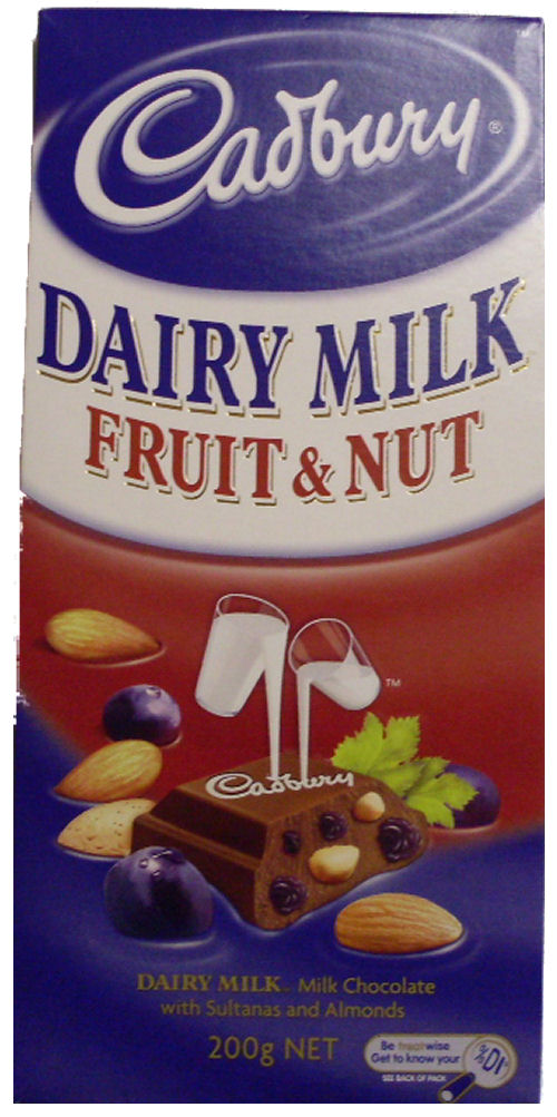 Cadbury Fruit n Nut Chocolate 200g (BB:SEP10)
