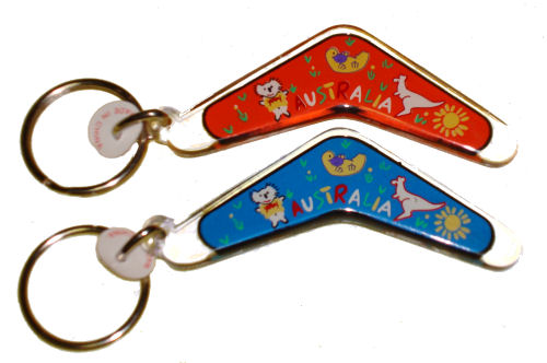 Key Ring - Boomerang and Australian Animals