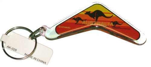 Key Ring - Boomerang Kangaroo Sunset
