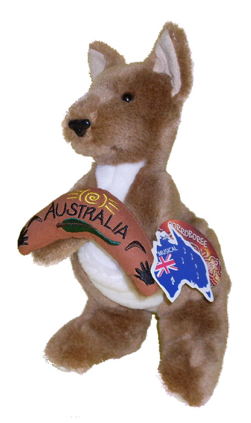 "Kangaroo with Musical Boomerang 10.5"" (26cm)"