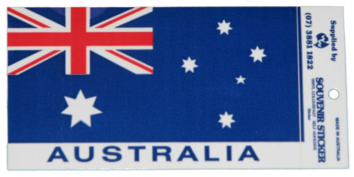 Australian Flag Car Sticker
