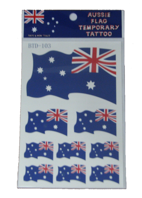 Australian Flag Temporary Tattoos Assorted
