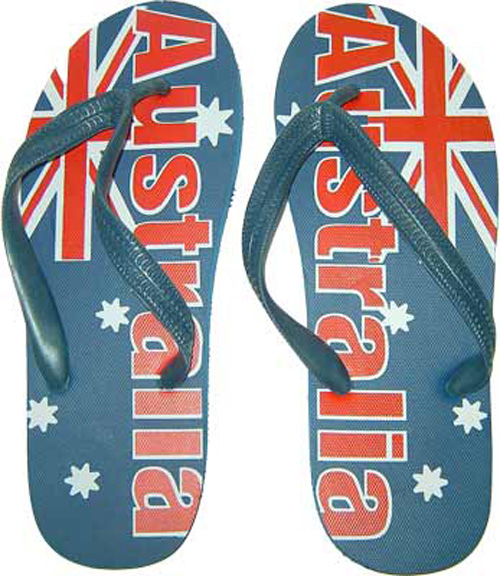 Australian Flag Thongs (Size Large)