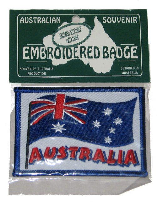 Badge: Australian Flag Wavy